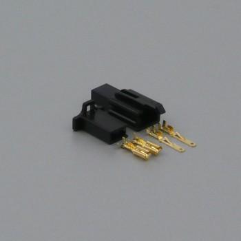 Sada konektoru Faston 2.8 mm, 2 póly, černá