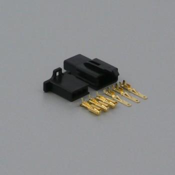 Sada konektoru Faston 2.8 mm, 3 póly, černá