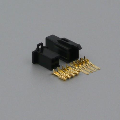 Sada konektoru Faston 2.8 mm, 4 póly, černá