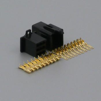 Sada konektoru Faston 2.8 mm, 9 pólů, černá