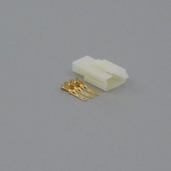 Sada konektoru Faston 2.8 mm, 3 póly - vidlice (samec)