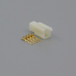 Sada konektoru Faston 2.8 mm, 4 póly - vidlice (samec)