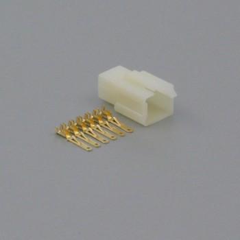 Sada konektoru Faston 2.8 mm, 6 pólů - vidlice (samec)