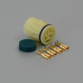Sada vodotěsného konektoru 6.3 mm, Lance, 4 póly - zásuvka (samice)