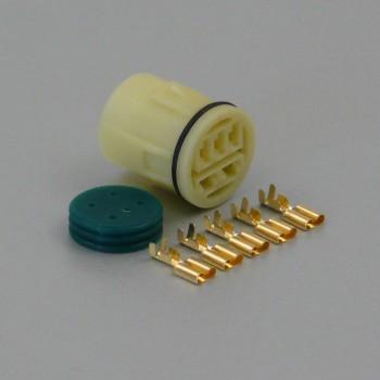 Sada vodotěsného konektoru 6.3 mm, Lance, 5 pólů - zásuvka (samice)