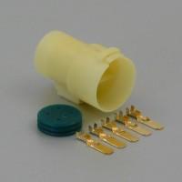 Sada vodotěsného konektoru 6.3 mm, Lance, 5 pólů - vidlice (samec)