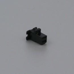Pouzdro konektoru Faston 6.3 mm, 2 póly, černé - zásuvka (samice)