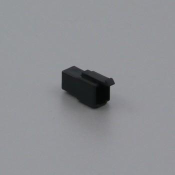 Pouzdro konektoru Faston 6.3 mm, 2 póly, černé - vidlice (samec)