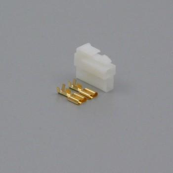 Sada konektoru Faston 6.3 mm, Lance, 2 póly - zásuvka (samice)