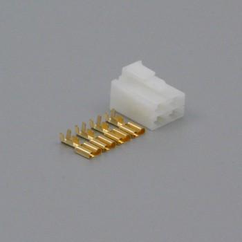 Sada konektoru Faston 6.3 mm, Lance, 4 póly - zásuvka (samice)