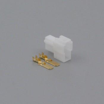 Sada konektoru Faston 6.3 mm, Lance, 2 póly - vidlice (samec)