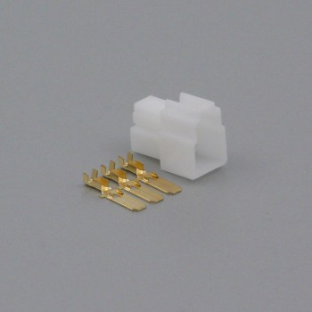Sada konektoru Faston 6.3 mm, Lance, 3 póly - vidlice (samec)