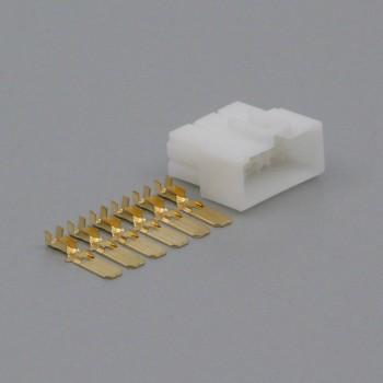 Sada konektoru Faston 6.3 mm, Lance, 6 pólů - vidlice (samec)