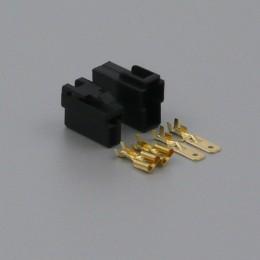 Sada konektoru Faston 6.3 mm, Special, 2 póly, černá