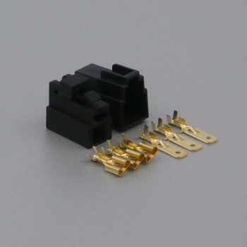 Sada konektoru Faston 6.3 mm, Special, 3 póly, černá
