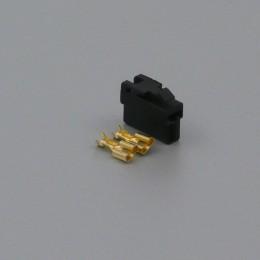 Sada konektoru Faston 6.3 mm, Special, 2 póly, černá - zásuvka (samice)