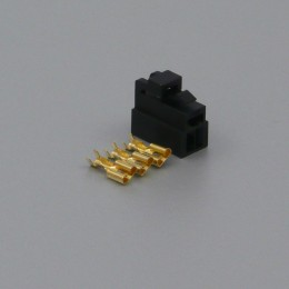 Sada konektoru Faston 6.3 mm, Special, 3 póly, černá - zásuvka (samice)