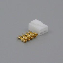 Sada konektoru Faston 6.3 mm, Special, 4 póly - zásuvka (samice)