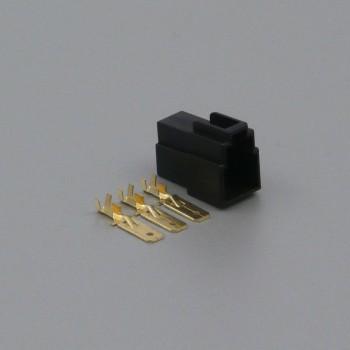 Sada konektoru Faston 6.3 mm, Special, 3 póly, černá - vidlice (samec)