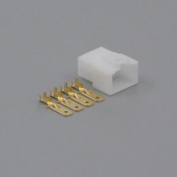 Sada konektoru Faston 6.3 mm, Special, 4 póly - vidlice (samec)