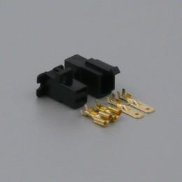 Sada konektoru Faston 6.3 mm, 2 póly, černá