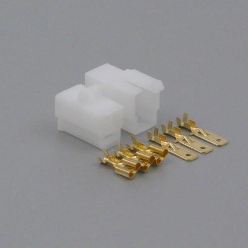 Sada konektoru Faston 6.3 mm, 3 póly