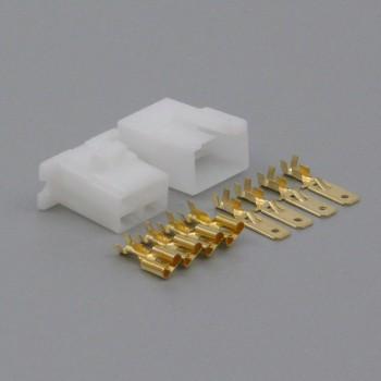 Sada konektoru Faston 6.3 mm, 4 póly