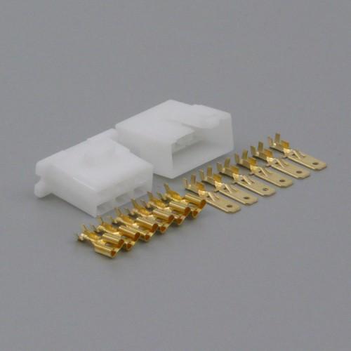 Sada konektoru Faston 6.3 mm, 6 pólů