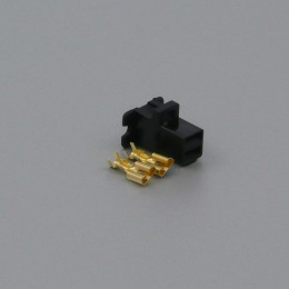 Sada konektoru Faston 6.3 mm, 2 póly, černá - zásuvka (samice)
