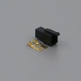 Sada konektoru Faston 6.3 mm, 2 póly, černá - vidlice (samec)