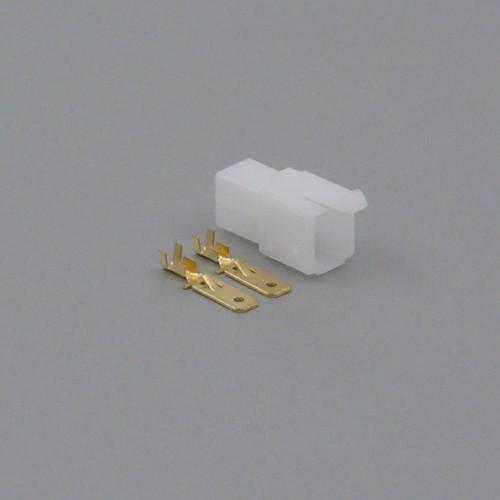 Sada konektoru Faston 6.3 mm, 2 póly - vidlice (samec)