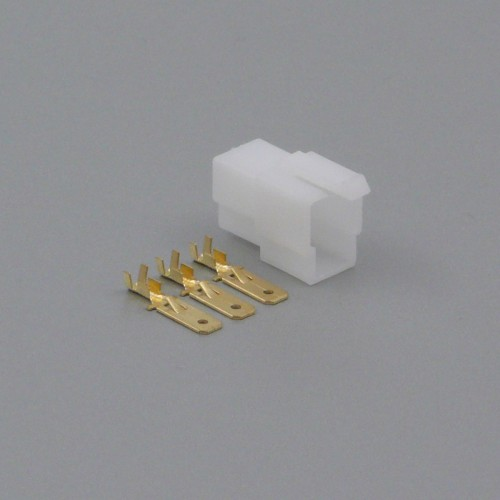 Sada konektoru Faston 6.3 mm, 3 póly - vidlice (samec)