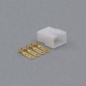Sada konektoru Faston 6.3 mm, 4 póly - vidlice (samec)