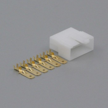 Sada konektoru Faston 6.3 mm, 6 pólů - vidlice (samec)