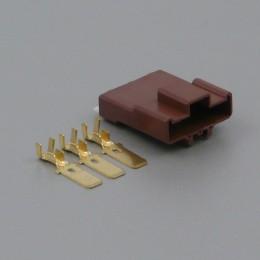 Sada konektoru Faston 7.8 mm, 3 póly - vidlice (samec)