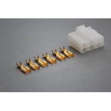 Sada konektoru Faston 6.3 mm, Lance, 6 pólů - zásuvka (samice)