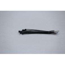 Stahovací páska, 2.5 mm, 100 mm, černá