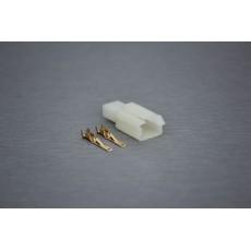 Sada konektoru Faston 2.8 mm, 2 póly - vidlice (samec)