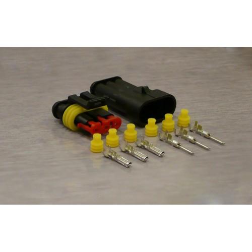 Sada vodotěsného konektoru Superseal 1.5 mm, 3 póly
