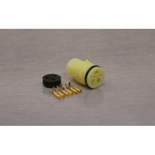 Sada vodotěsného konektoru Faston 6.3 mm, Lance, 3 póly - zásuvka (samice)