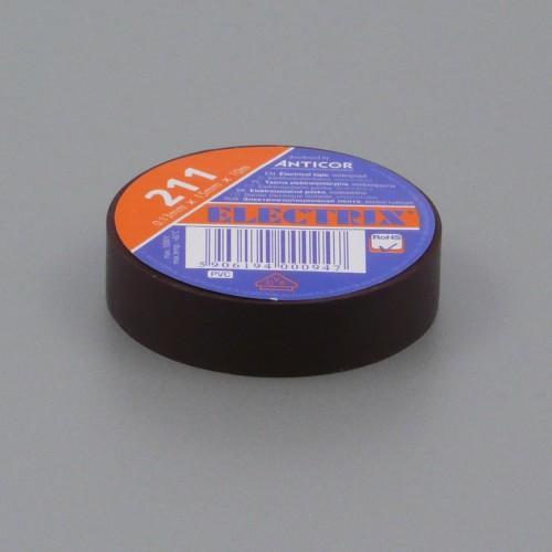 Izolační páska PVC, 15 mm, 10 m, hnědá