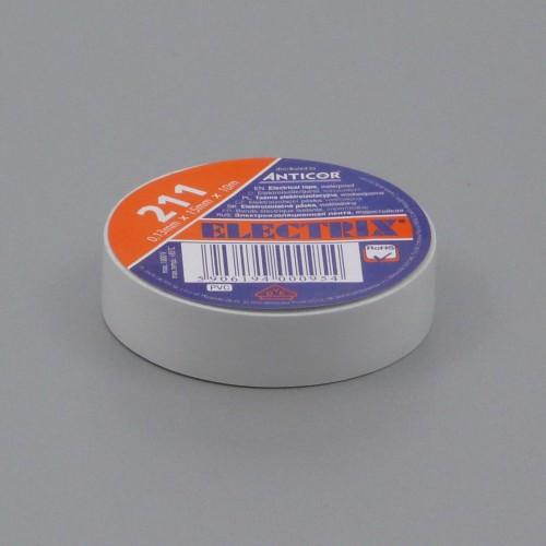 Izolační páska PVC, 15 mm, 10 m, bílá