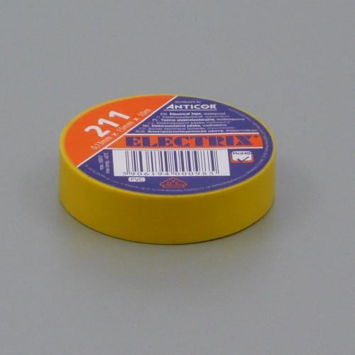 Izolační páska PVC, 15 mm, 10 m, žlutá