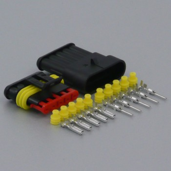 Sada vodotěsného konektoru Superseal 1.5 mm, 5 pólů