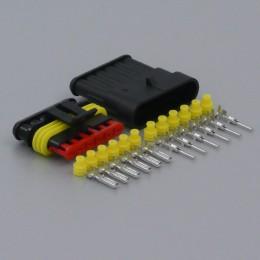 Sada vodotěsného konektoru Superseal 1.5 mm, 6 pólů