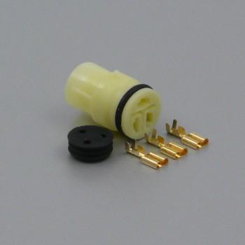 Sada vodotěsného konektoru 6.3 mm, Lance, 3 póly - zásuvka (samice)