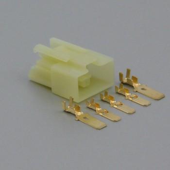 Sada hybridního konektoru 6.3 / 7.8 mm, 5 pólů - vidlice (samec)